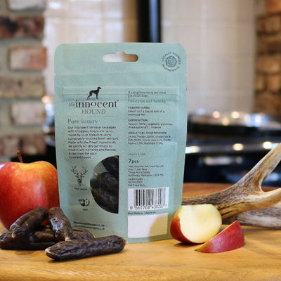 Innocent Hound - The Innocent Hound - Venison Sausages With Chopped Apples (70g) For Dogs