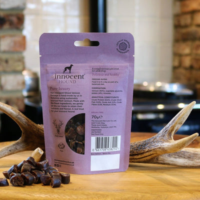Innocent Hound - The Innocent Hound - Sliced Venison Sausages (70g) For Dogs