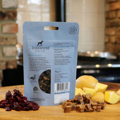 Innocent Hound - The Innocent Hound - Sliced Duck With Cranberry (70g) For Dogs
