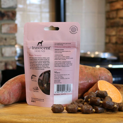 Innocent Hound - The Innocent Hound - Salmon Bites With Sweet Potato (70g) For Dogs