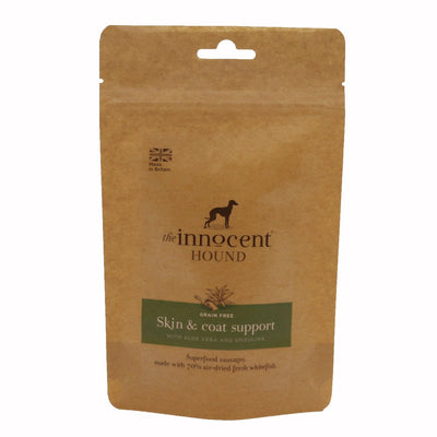 Innocent Hound - The Innocent Hound - Skin & Coat Support Sausages With Aloe Vera And Spirulina (10pcs) For Dogs