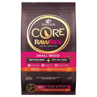 Wellness Small Breed - Wellness CORE RawRev Original (Small Breed) (2 Sizes) – Kibble + Freeze Dried Dry Dog Food + 100% Raw Bites (Turkey)