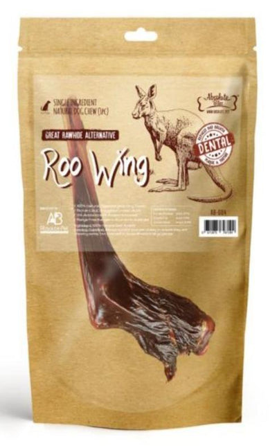 Absolute Bites Roo Wings (1 pc / 3pcs) – 100% Air Dried Kangaroo Shoulders - Dog & Cat Treats