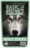 Basic Instinct Natural Dog Treats Beef Bully Sticks - 100% Beef (180g) - Air Dried Dog Treats + Dental Chew