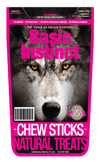 Basic Instinct Natural Dog Treats Beef Chew Sticks - 100%Beef Tendons (200g) - Air Dried Dog Treats