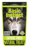Basic Instinct Natural Dog Treats Beef Spare Ribs - 100% Veal Ribs(500g) - Air Dried Dog Treats