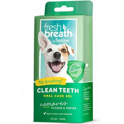 Tropiclean Fresh Breath Clean Teeth Gel (59ml / 118ml) - Removes plaque and tartar for Dogs