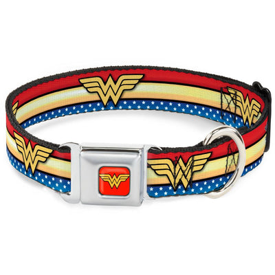 Buckle-Down - Wonder Woman - Collar, Leash For Dogs - Patented