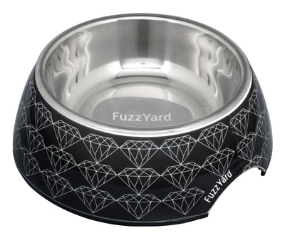 Fuzzyard Bowl - FuzzYard Black Diamond – Easy Feeder Bowl + Silicon Feeding Mat