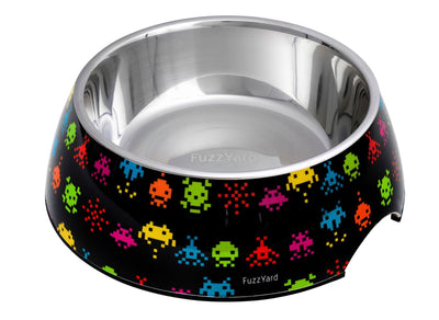 Fuzzyard Bowl - FuzzYard Space Raiders – Easy Feeder Bowl + Silicon Feeding Mat