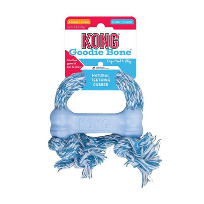Kong (Classic / Puppy) Goodie Bone with Rope – (XS) - Dental Chew Toy