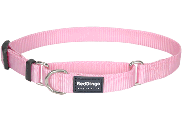 Martingale - Red Dingo Martingale Half Check Collar For Dogs - Pink (4 Sizes) - Maximum Control