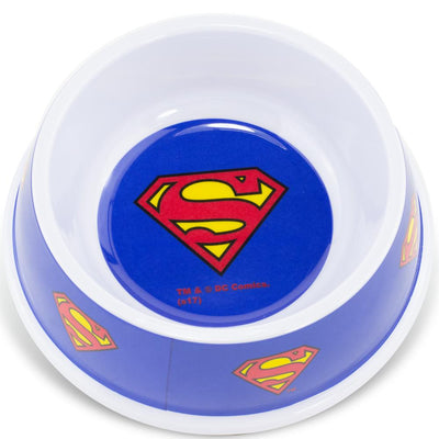 Buckle-Down - Superman Shield - Melamine Pet Bowl (473ml) - Officially Licensed