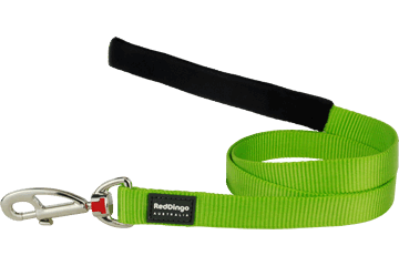Martingale - Red Dingo Martingale Half Check Collar + Lead / Leash For Dogs - Lime Green (4 Sizes) - Maximum Control