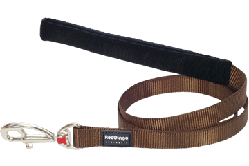 Martingale - Red Dingo Martingale Half Check Collar + Lead / Leash For Dogs - Brown (4 Sizes) - Maximum Control