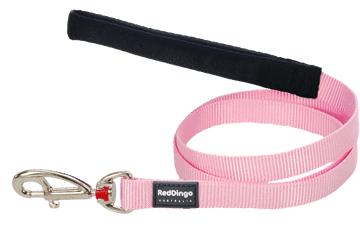 Martingale - Red Dingo Martingale Half Check Collar + Lead / Leash For Dogs - Pink (4 Sizes) - Maximum Control