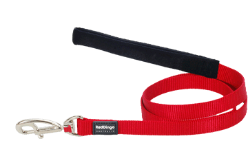 Martingale - Red Dingo Martingale Half Check Collar + Lead / Leash For Dogs - Red (4 Sizes) - Maximum Control