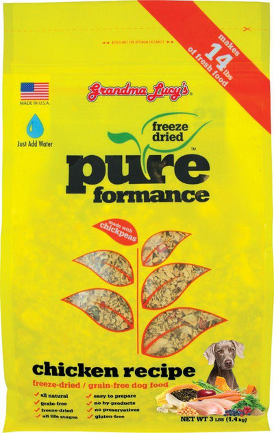Grandma Lucy Pureformance Chicken for Dogs (2 sizes) – Freeze Dried + Grainfree