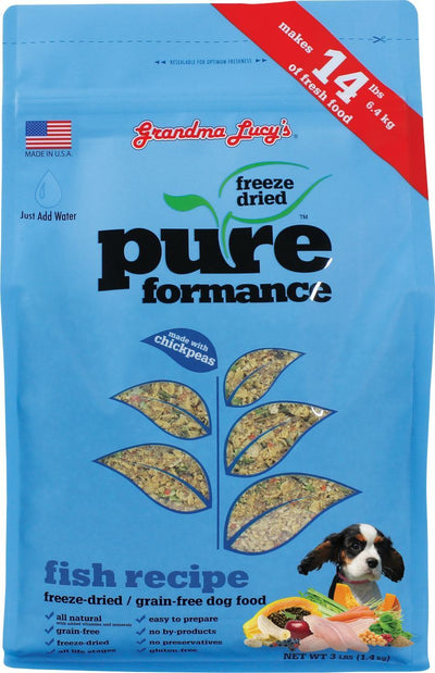 Grandma Lucy Pureformance Fish for Dogs (2 sizes) – Freeze Dried + Grain Free