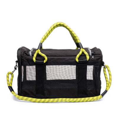 Pet Carrier - Roverlund Pet Carrier (Car Seat + Carrier + Mobile Dog Bed) - Black / Yellow