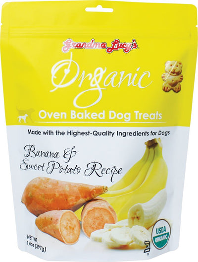 Grandma Lucy Organic Banana Sweet Potato for Dogs (397g) – Oven Baked Treats