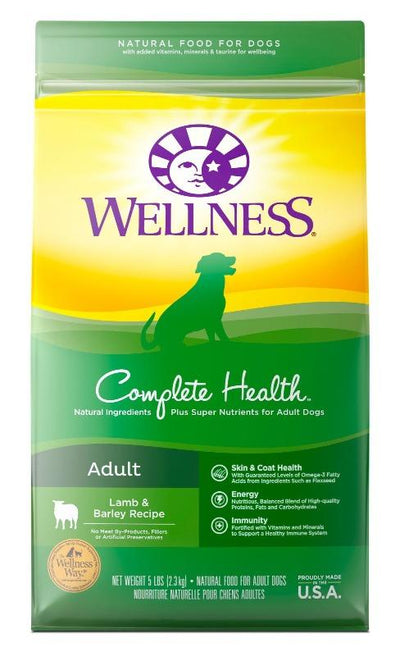 Wellness Complete Health Lamb Barley (2 sizes) - Dry Dog Food