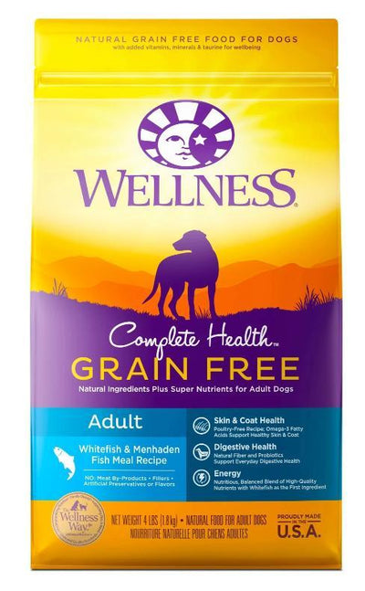 Wellness Complete Health Grain-Free Whitefish and Menhaden Fish Meal (2 sizes) – Dry Dog Food