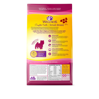 Wellness Small Breed Complete Health Whitefish, Salmon and Peas (2 sizes) - Dry Dog Food