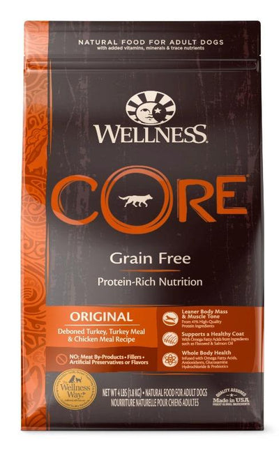 Wellness CORE Grain-Free Original (3 sizes) – Dry Dog Food - Deboned Turkey, Turkey Meal, Chicken Meal
