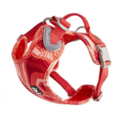 Weekend Warrior Harness - Hurtta Weekend Warrior Dog Harness / Rope Leash - Coral Camo - Ergonomic + Suitable For Active Dogs
