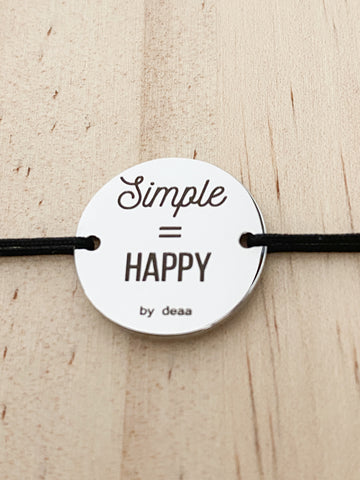 "Bracelet ""Simple = happy"""