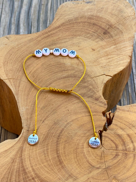 Bracelet « MY MOM », aux multiples coloris