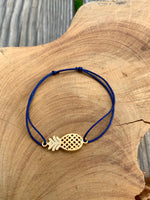 """PINEAPPLE"" bracelet, adjustable in multiple colors"
