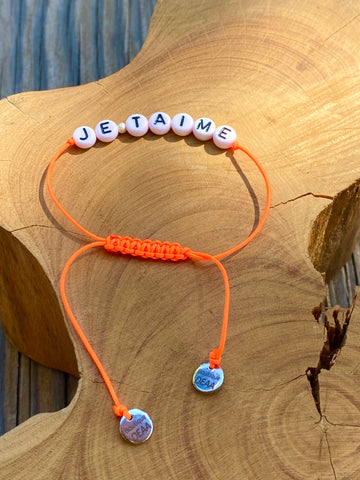 Bracelet «JE T'AIME», in numerous colours