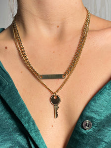 Collier Ankh couleur or, acier inoxydable
