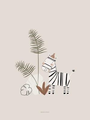 Zachery the Zebra Nursery Print