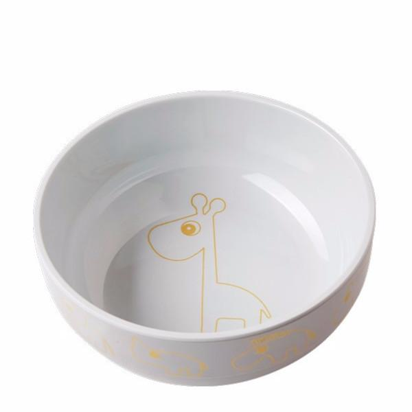 Done By Deer Melamine Bowl Contour gold/grey - DE GELE FLAMINGO - Kids concept store