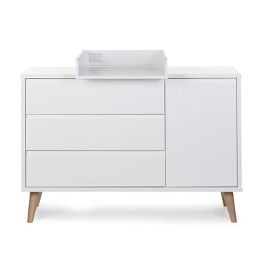Childhome Commode Retro Rio White 3 lades + deur + verzorgingsunit
