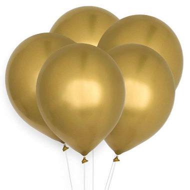 House Of Gia Set 10 Chrome Ballonnen - Gold