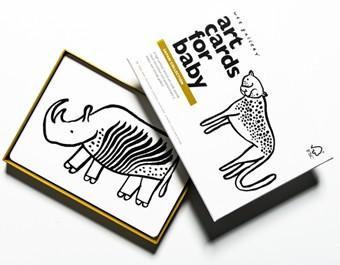 Wee Gallery Baby art cards - Safari collection - Special edition