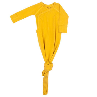 Timboo Knotted Baby Gown 0-3M | Ocher