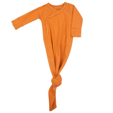 Timboo Knotted Baby Gown 0-3M | Inca Rust