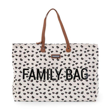 Childhome weekendtas XL Family Bag | Canvas Leopard