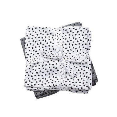 Done By Deer set 2 burp cloths 70x70cm Happy dots grey