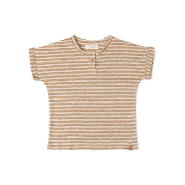 Nixnut T-shirt | Stripe Dust Caramel