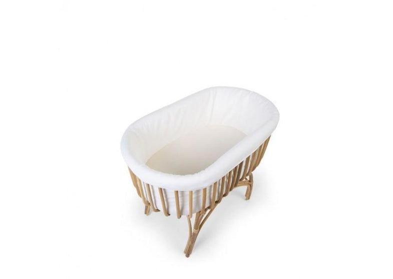 Childhome rattan wiegje omrander rond - witte hoes
