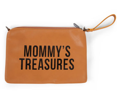 Childhome  Mommy toilettas clutch Leather Look Bruin