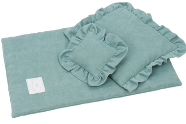 Cotton & Sweets bedset voor poppenbedje Silit Green