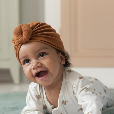 Bonjour Little Turban Beanie | Nut