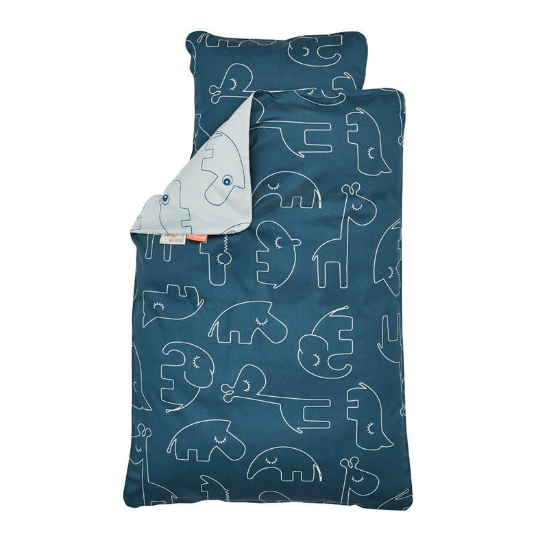 Done By Deer Bedset 100 x 140cm Sleepy Blue